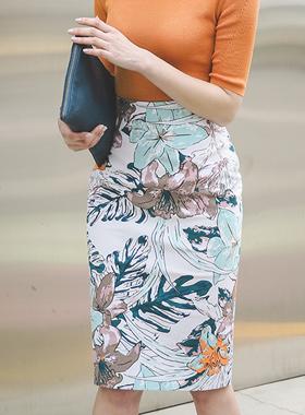 热带高腰裙子