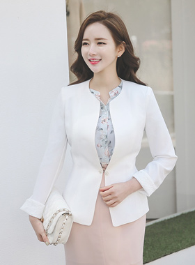 奢华裙珍珠背褶外套