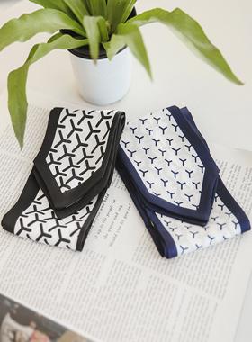 简单风车领带围巾