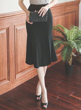 优雅高上将狭缝裙子