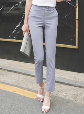 法国人现代修身宽松长裤