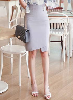 现代按钮马里昂正式裹裙