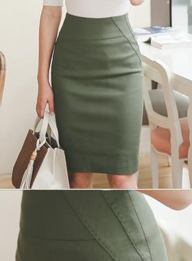 一块缝自然裙子