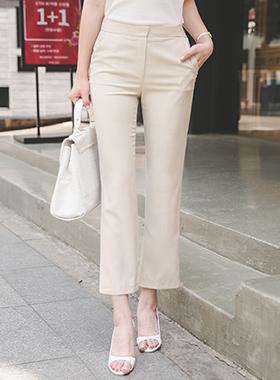 半冷却板坯靴型裤宽松长裤