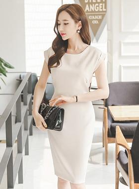 现代法国人袖连衣裙