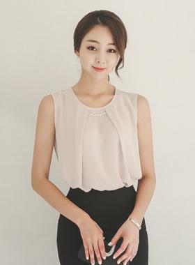 奢华裙立方装饰tuteok女衬衫