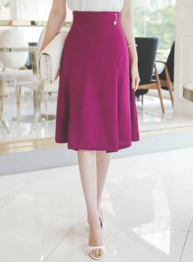 珍珠胸针针折缝线条裙子