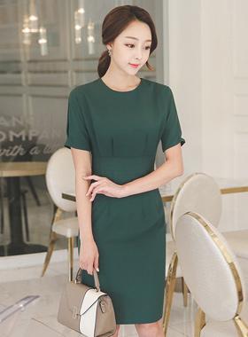 现代修身连衣裙光线