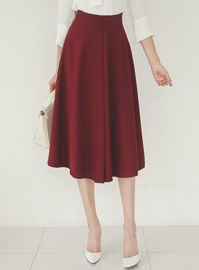 复古/古典柔滑的下巴波浪群/喇叭裙裙子
