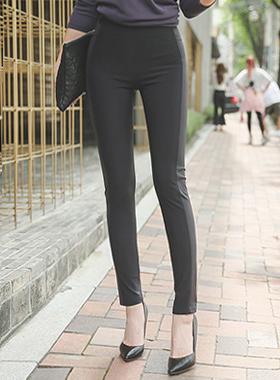 切口线涂层跨度打底裤短裤