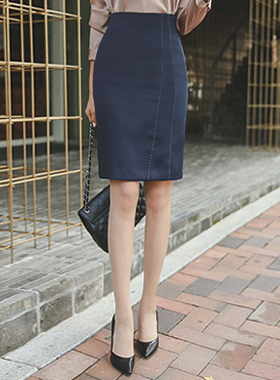 绸缎缝ħ线条裙子