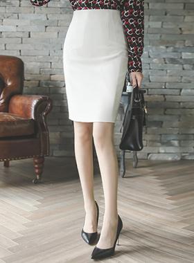 简单飞镖高腰裙子(下降)