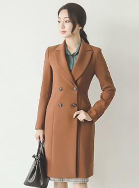 复古/古典切割双长款大衣