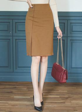 自然管道狭缝裙子