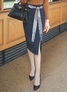 泰国SET带缝裙子