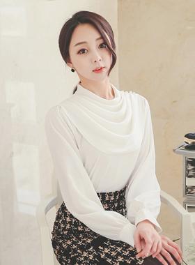 悬垂体珍珠女衬衫