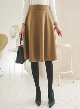 基本的羊毛波浪群/喇叭裙裙子