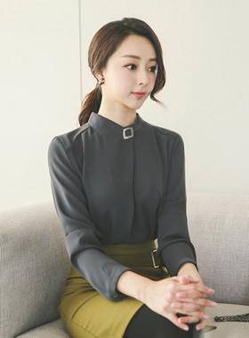 方形折叠金属女衬衫