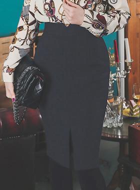 克莱尔V teuim加绒狭缝裙子