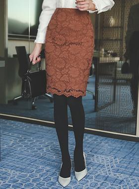 Vernis系列蕾丝^ h线条裙子