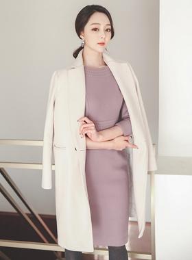 双口袋缝量身定制的西装领型棉衣Ⅱ