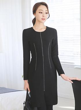 现代缝线条连衣裙