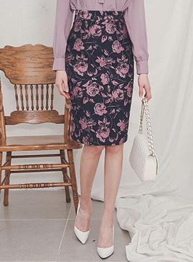 提花东方的花裙子