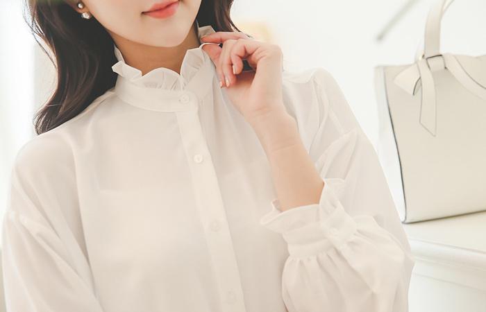 纯粹折叠长衬衫和衣衣裙