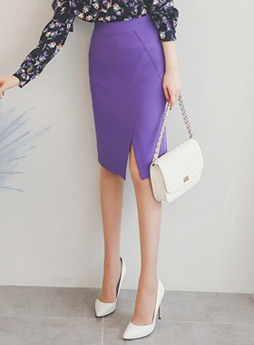 超紫红切裙子