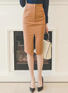 高槽深纺棉裙子