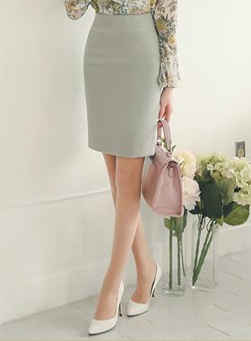 粉彩弹力ħ线条裙子