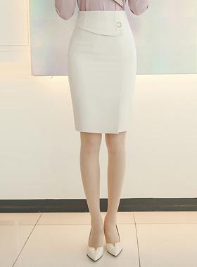 哑金带环马里恩裙子