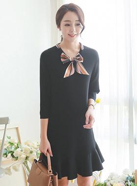 围巾蝴蝶结领结图案衣衣裙(套7)
