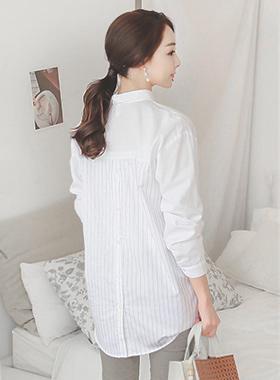 基本背条纹长衬衫
