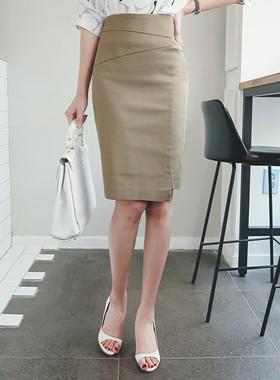 Uncovered亚麻弹力裙子