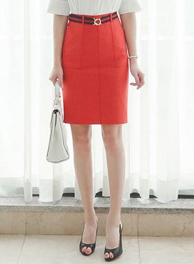 缝袖口裙子(腰带SET)