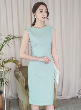 Minimal亚麻H线条连衣裙