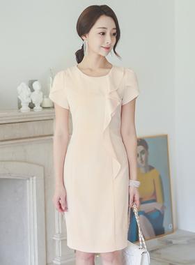 女装荷叶边Tulip Sleeve衣衣裙