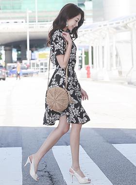 植物波群/喇叭裙裙子