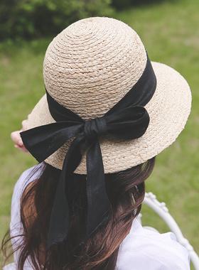 奥都丽蝴蝶结草帽软垫帽