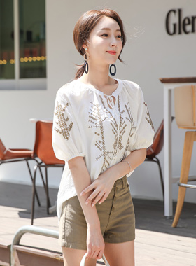 印度刺绣外衣女人衬衫