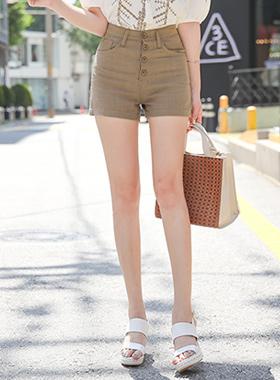 高腰麻麻短裤