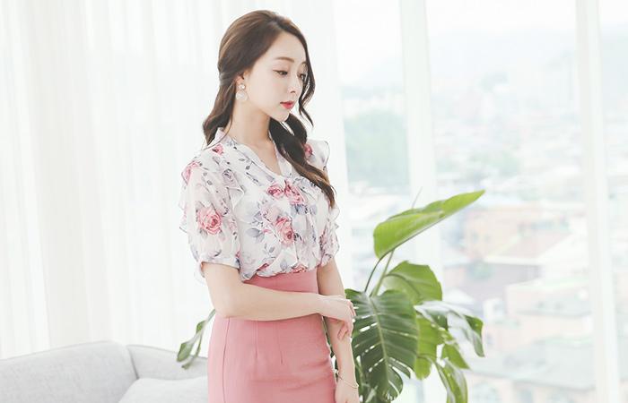 粉色玫瑰荷叶边丝带领带女孩
