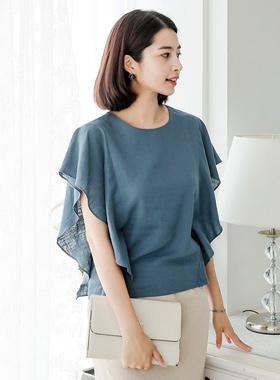 Wing Ruple亚麻女衬衫