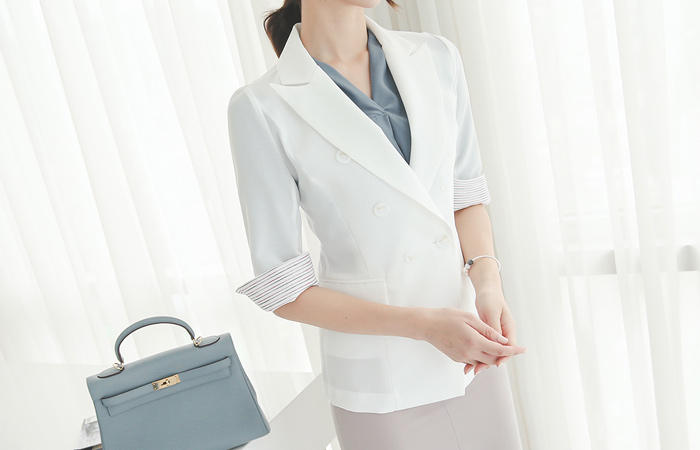 彩色线袖颜色方案双夹克(袖子7)