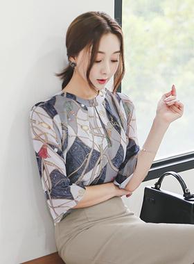 优雅や炎真丝女衬衫