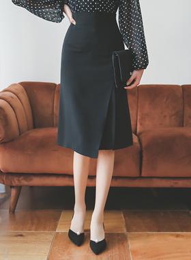 艾格尼丝切口A线裙子