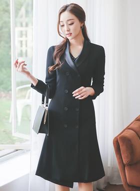 Wing Kara双连衣裙长款大衣