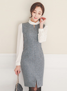 Maria v双辊颈衣衣裙