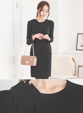 挎包Mono Detail简单圆领连衣裙